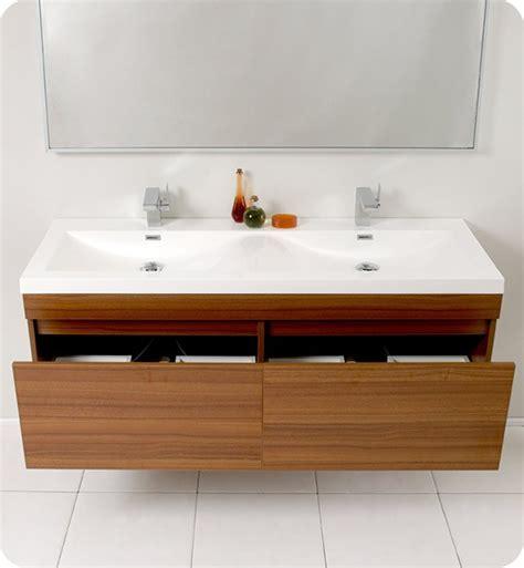 fresca largo double   modern wall mount bathroom