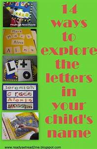 14 ways to learn the letters in a child39s name With fun in your name letters