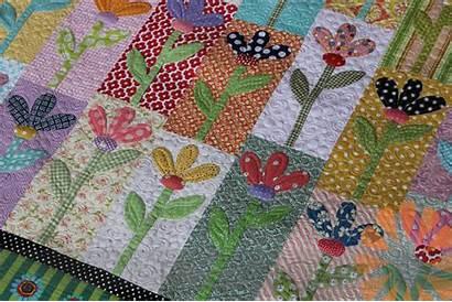 Quilt Flower Quilting Scrappy Machine Quilts Custom
