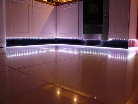 cool white led lights look amazing as plinth lights