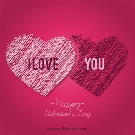 valentines day card vector template