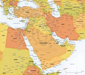 Capitals Of Middle East Countries Map