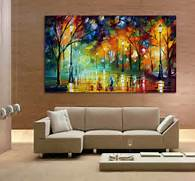 Living Room Canvas Art by Buy 100 Hand Drawn City At Night 3 Knife Painting Modern
