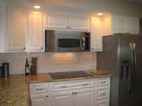 Kitchen Cabinet Hardware Placement Options by Same Color Counter Top But With White Backsplash