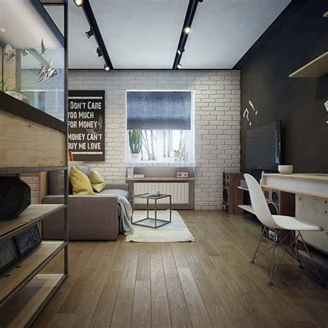 second bookshelves apartment designs for a small family and a