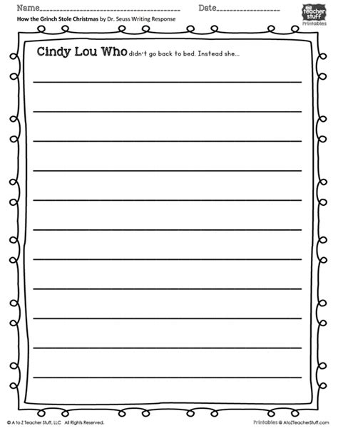 printable writing templates for elementary students