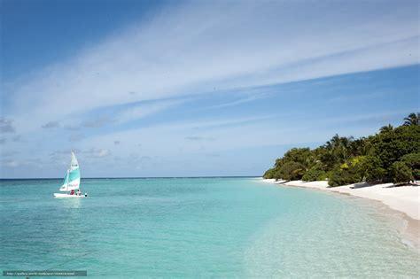Download wallpaper Maldives, tropics, beach, yacht free ...