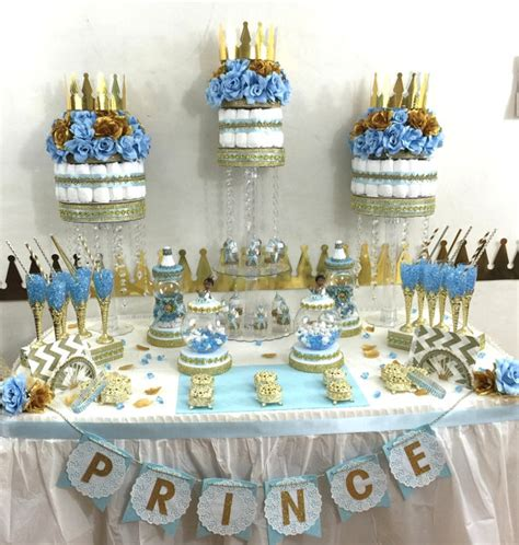 prince baby shower decorations little prince baby shower candy buffet diaper cake centerpiece