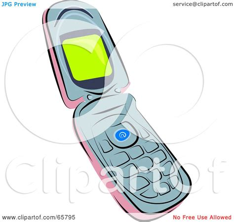 flip phone clipart black and white royalty free rf clipart illustration of a pink and gray