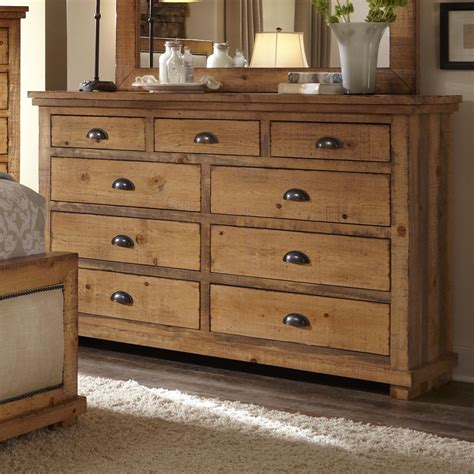 progressive furniture willow distressed pine drawer