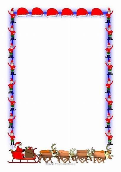 Christmas Sparklebox Borders Lined Portrait A4 Paper