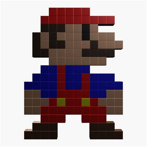 8 Bit Mario 3d Obj