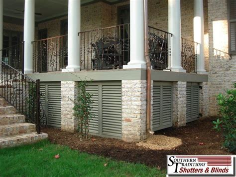 Alternatives To Lattice For Deck Skirting by Porch True Louver Panels Jpg I Like This A Lot