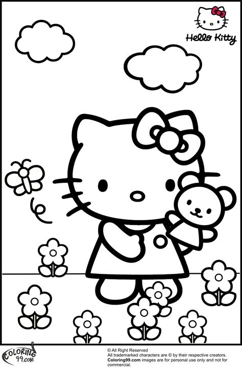 Hello Kitty Coloring Pages Team colors