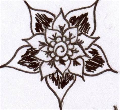 Collection Of 15 Quick And Easy Henna Flower Designs Henna Mehndi