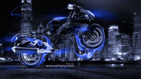 suzuki hayabusa fire crystal city bike  el tony