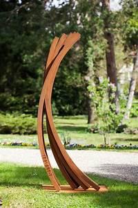 Sculpture De Jardin Contemporaine : acier corten 50 id es de d co jardin tr s tendance ~ Carolinahurricanesstore.com Idées de Décoration