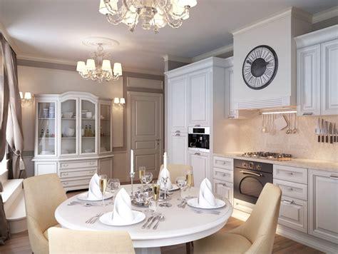 white traditional kitchen diner interior design ideas