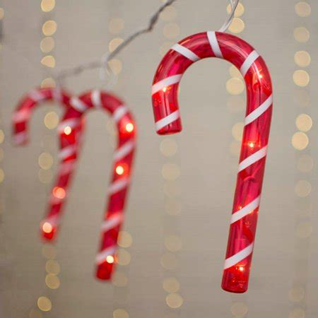 candy cane string lights novelty string lights string lights canes outdoor white wire 5 ft in