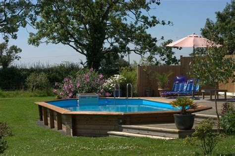 sunken  ground pool  deck    perfectly