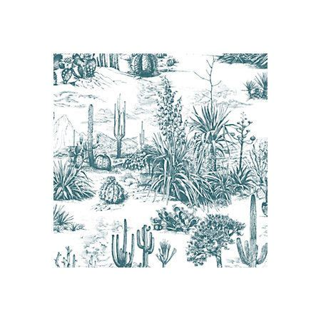 fresco arizona teal cacti wallpaper departments diy