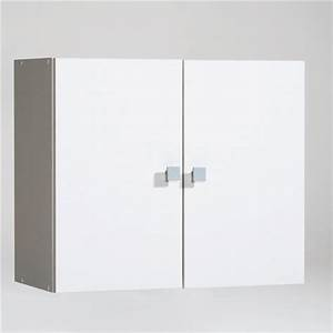 meuble haut de salle de bain 2 portes a suspendre grimsby With meuble salle de bain a suspendre