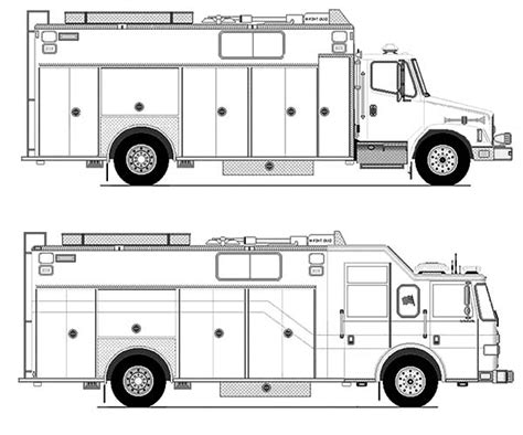 25 Fire Truck Coloring Pages