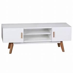 Tv Board 120 Cm : tv lowboard 120 cm mdf holz retro 2 t ren wei hifi regal fernseher kommode ebay ~ Bigdaddyawards.com Haus und Dekorationen
