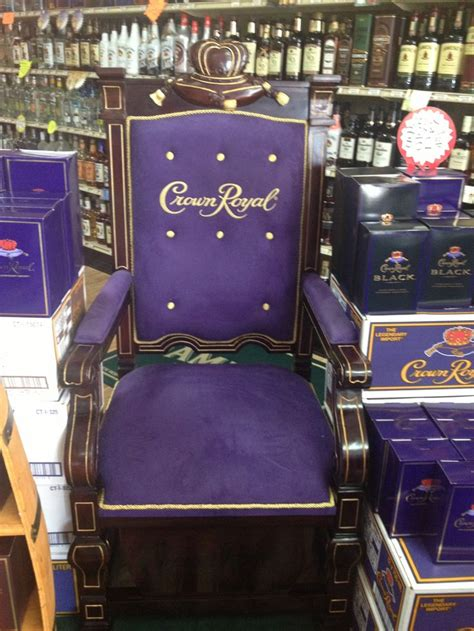 i this chair it s purple and its crown royal lol