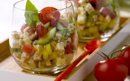 recette salade de crozets des de tomate poivron jaune