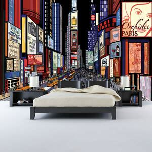New York Bedroom Wallpaper Ebay by Times Square New York Wall Mural City Illustration Photo