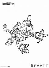 Dinotrux Coloring Pages Revvit Printable Jumpping Template sketch template