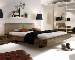 Bett Mit Ablagefläche : doppelbett schwebend aus akazie gefertigt penco ~ Indierocktalk.com Haus und Dekorationen
