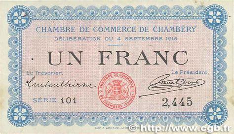 chambre de commerce de chambery 1 franc regionalismus und verschiedenen chambéry