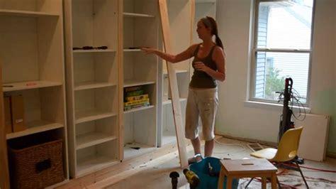 glass office door smart diy turning ikea shelves into built ins