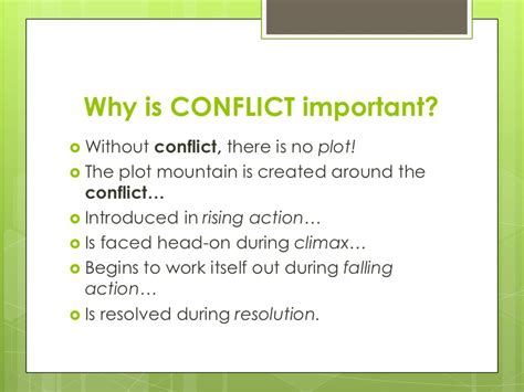 types of conflict in literature classroom ideas