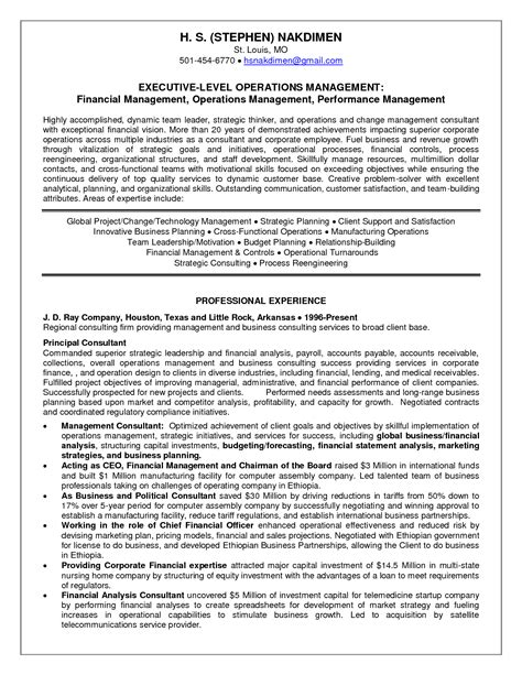 Management Consultant Resume by Agreeable Management Consultant Resume Summary About