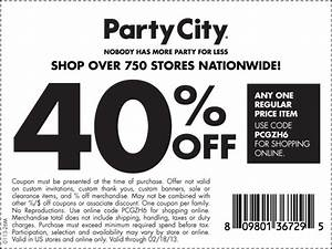 party city 40 percent off coupon print coupon king With party city wedding invitations coupons