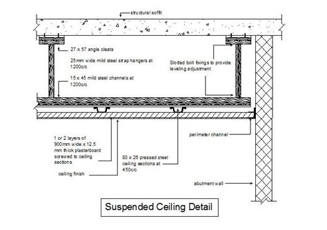 free cad detail of suspended ceiling section