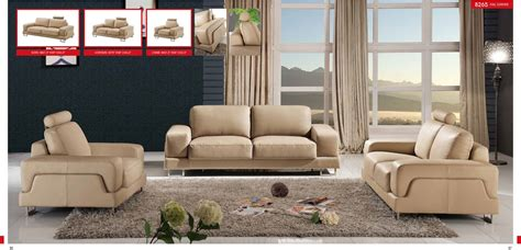 modern living room sets esf modern 8265 finest genuine italian leather sofa set
