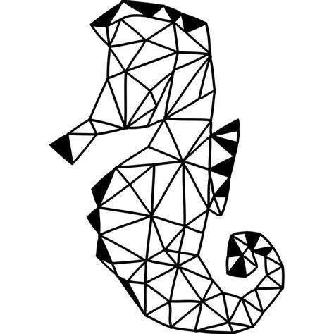 cuisine garcon sticker hippoce en forme géométrique