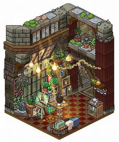 Hobby Cozy Cutiezor Habbo Pixel Deviantart Rooms