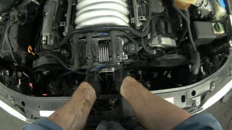 audi  atq  timing belt thermostat removal youtube