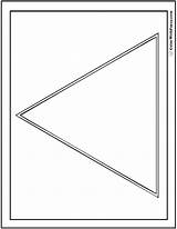 Coloring Shape Triangle Pages Triangles Triangular Circles Colorwithfuzzy sketch template
