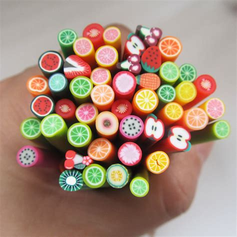 aliexpress buy colorful 3d fimo rods nail sticks
