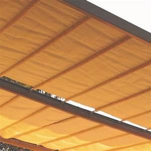 Pergola Adossée 4x4 : tonnelle adoss e aluminium acier 4x4 m toile coulissante boston taupe gamm vert ~ Melissatoandfro.com Idées de Décoration