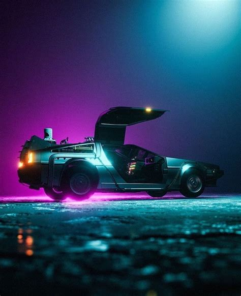 Delorean car dmc futuristic car digital art new retro wave synthwave | Delorean, Futuristic cars ...