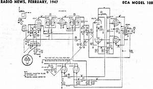Eca Model 108 Schematic  U0026 Parts List  February 1947 Radio