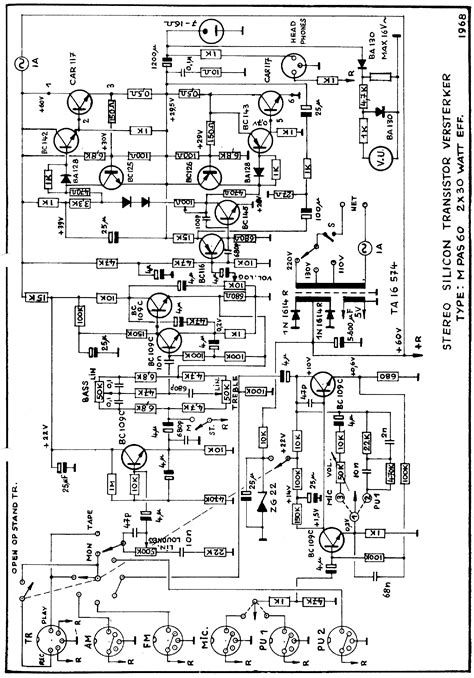 Carad Mpas Stereo Transistor Amplifier Sch Service