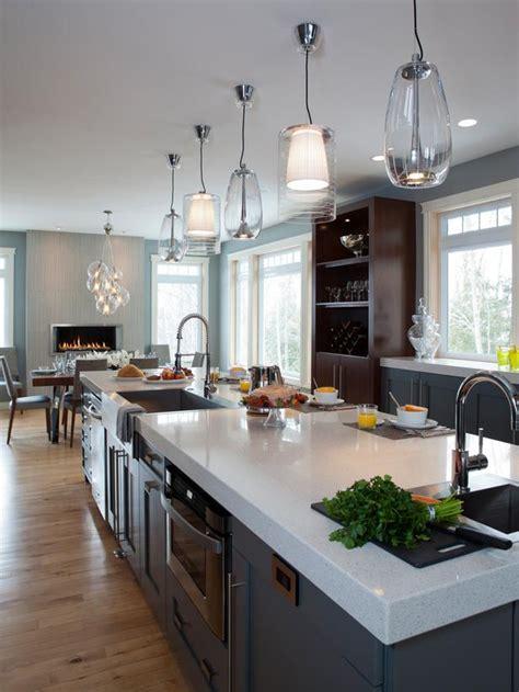 mid century modern kitchen island thirteen foot multipurpose island provides le space 9166